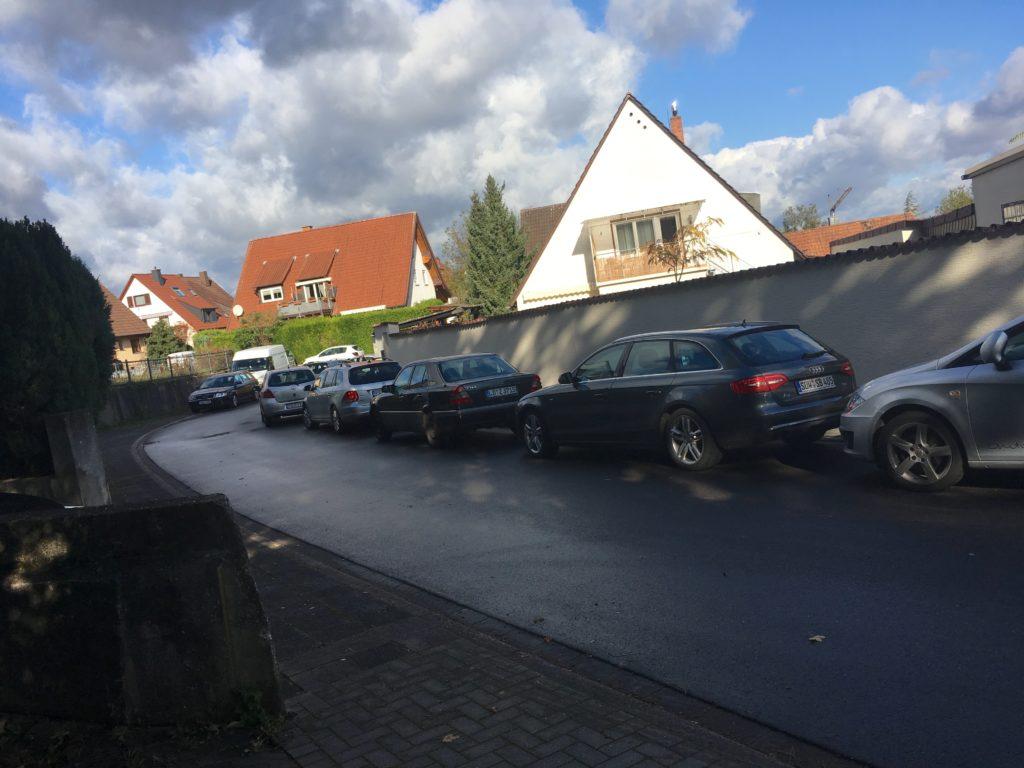 Parken am Fahrbahnrand