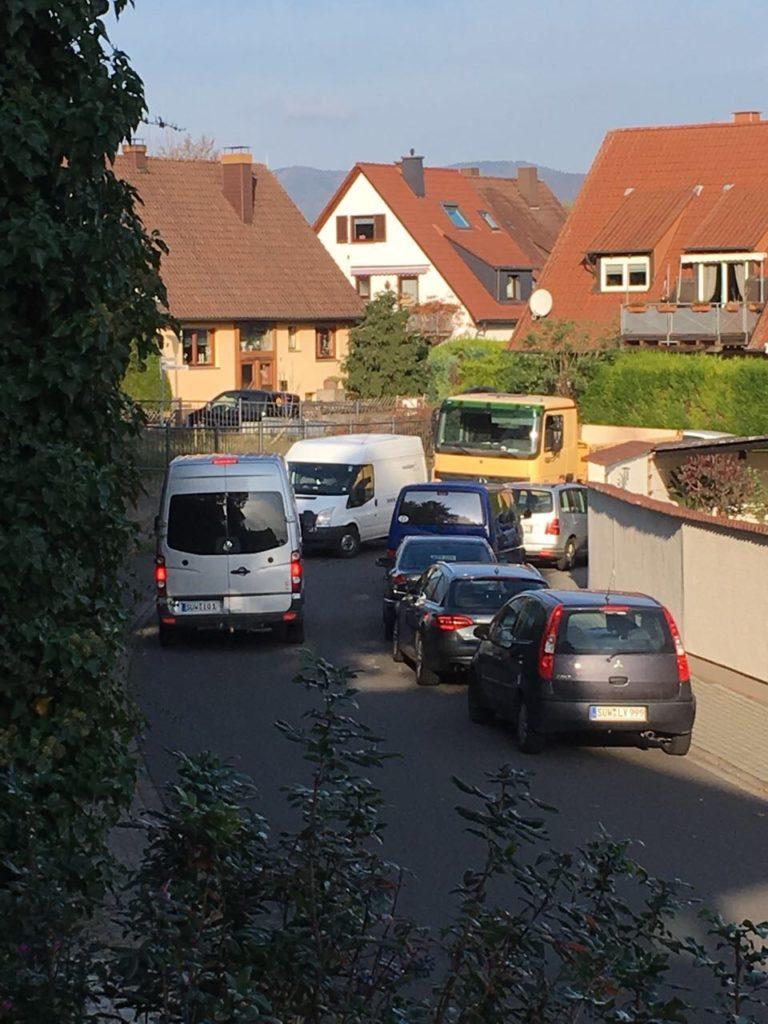 Kein Durchkommen in der Rappoltsweiler Straße